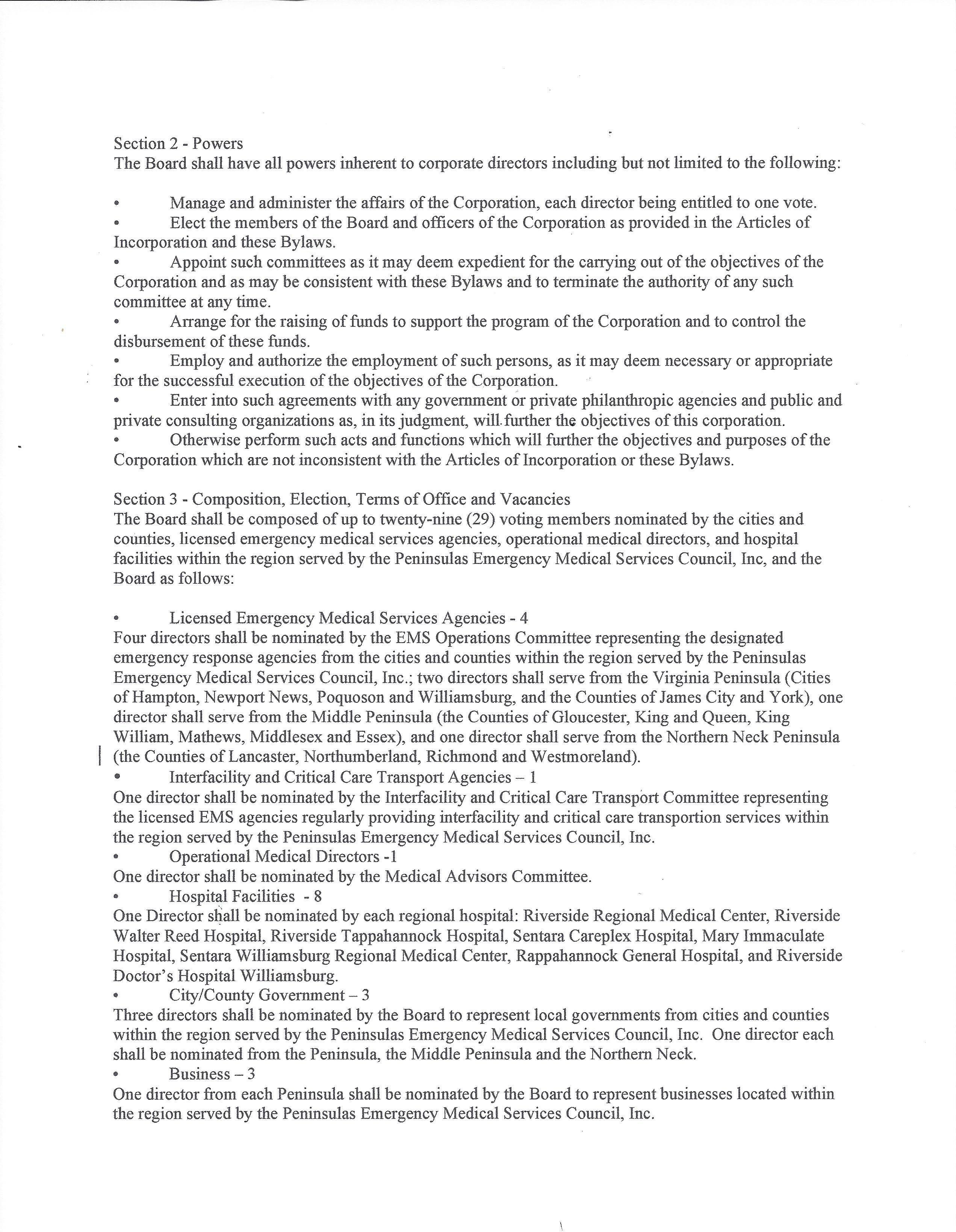 PEMS Council Inc. Bylaws 06 21 17 Page 02 2