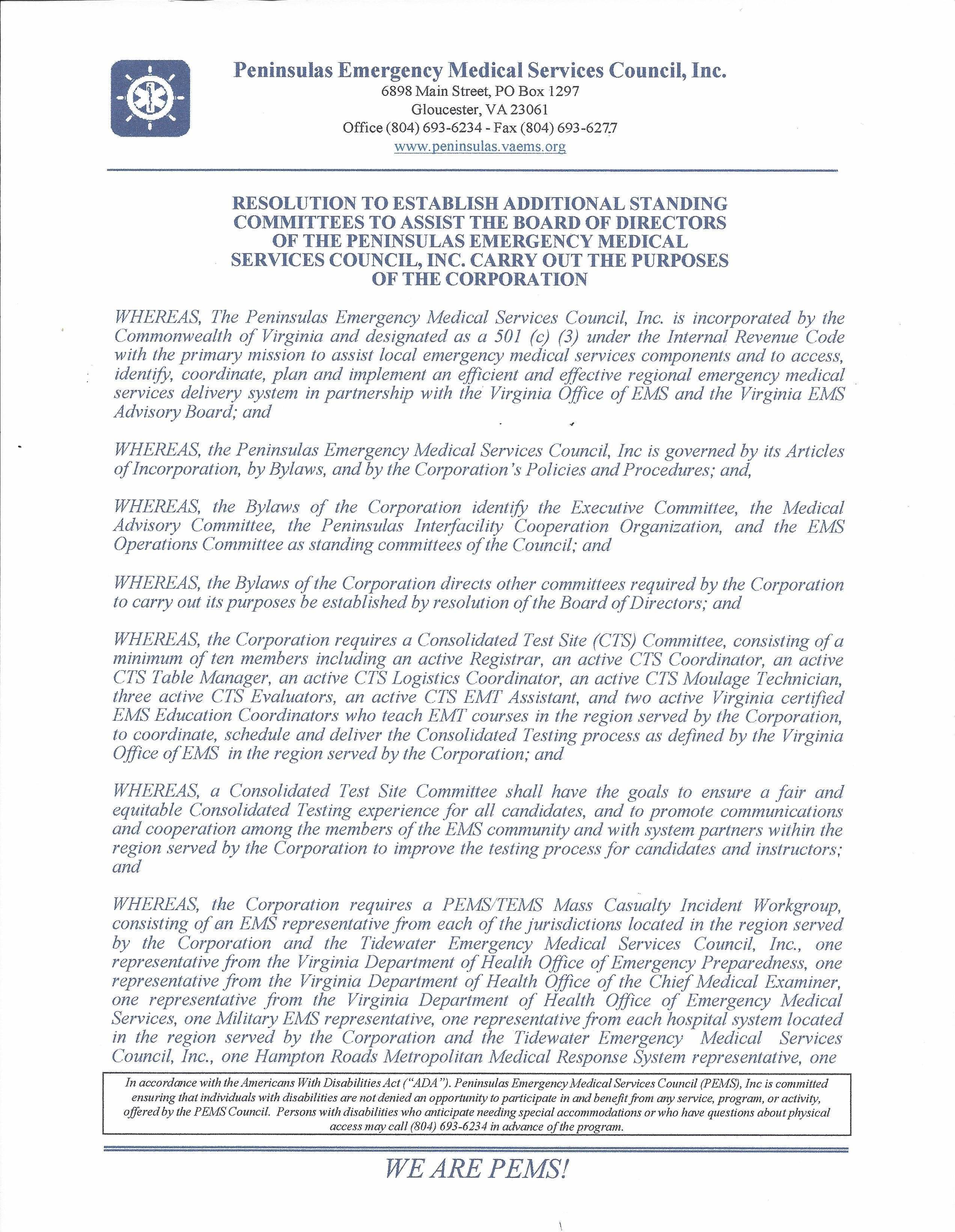 Resolution To Establish Additoinal Standing Committees 6 21 17 Page 1